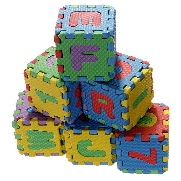 Bebé colorido eva rompecabezas números de letras del alfabeto de espuma estera