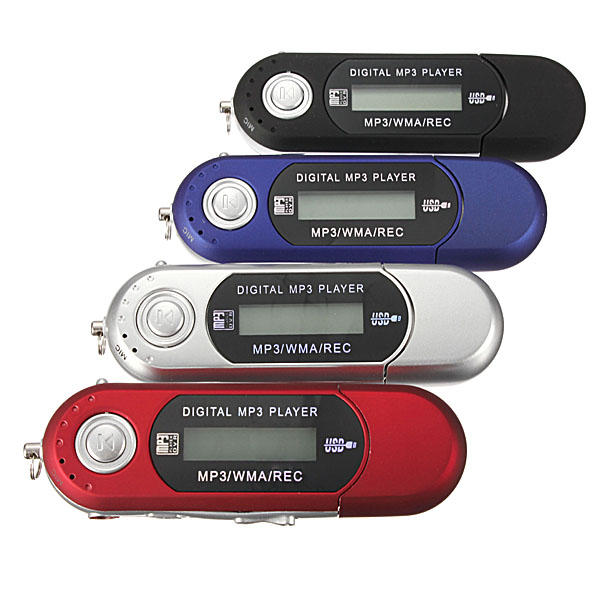 8GB Mini MP3 USB Flash Drive LCD Music Player With FM Radio COD