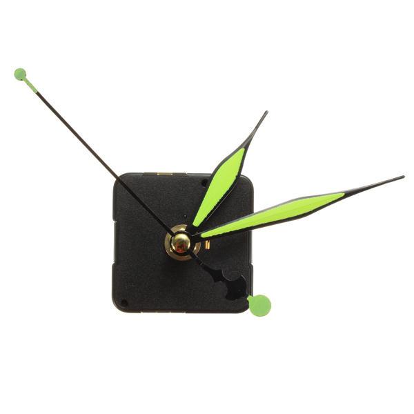 グリーン&ブラックルミナスハンズDIYクォーツ時計スピンドルの動き
