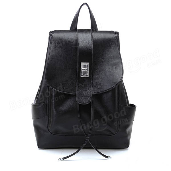 Fashion Vintage PU Leather Backpack Girls Shoulder School Bag - US ... 63b2b96452e6f