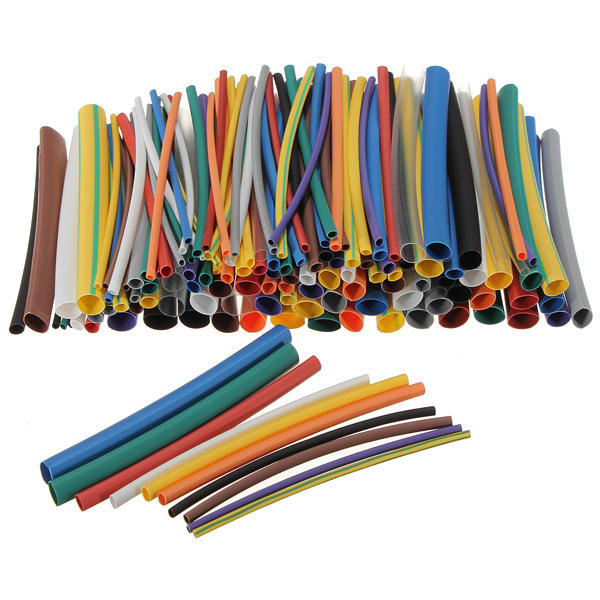 328pcs Heat Shrink Tubing Insulation Shrinkable Tube Assortment 2:1 Heat Shrink Tubing Colorful Wrap Wire Cable Sleeve Diy Kit Clearance Price Insulation Materials & Elements Electronic Components & Supplies