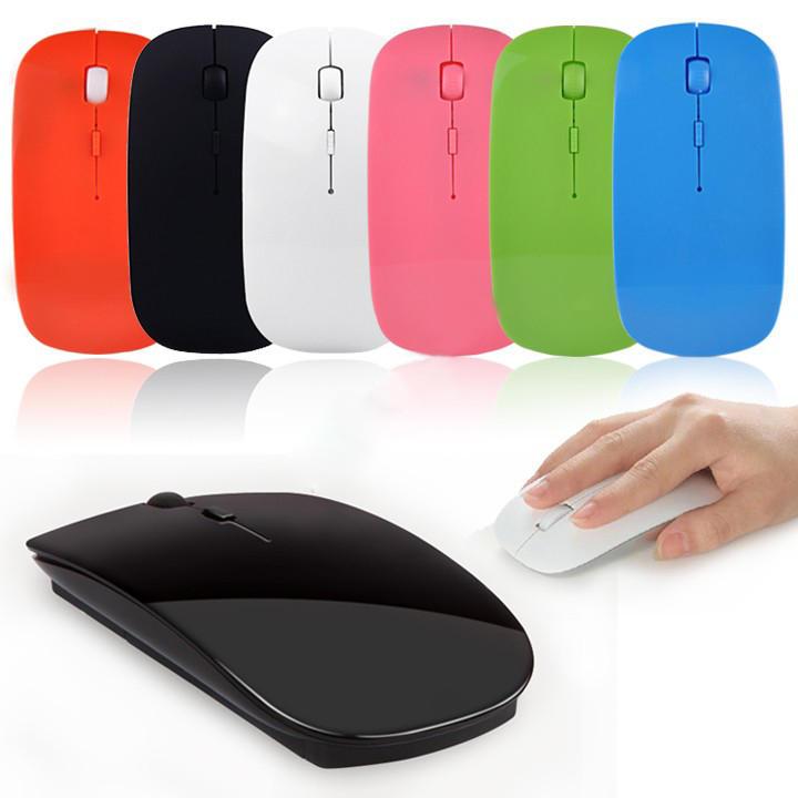 68e8707fd5a Bestrunner Ultra Thin 2.4G Wireless 4D 800 1000 1200DPI Optical Mouse - Red  COD