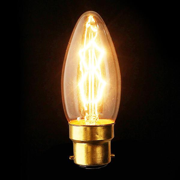B22 110V/220V 40W Candle Vintage Edison Filament Incandescent Bulb