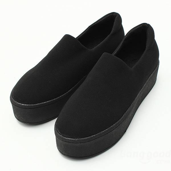 simple women girls platform slip-on shoes casual flats loafer at Banggood  sold out