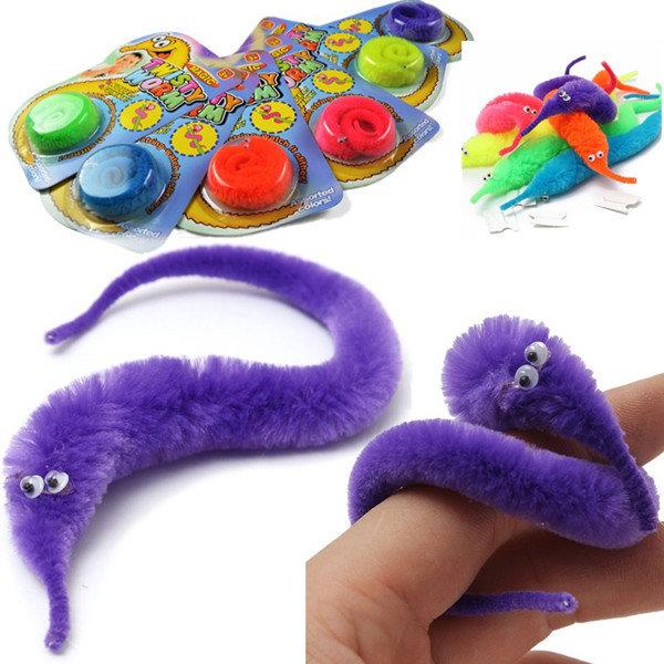 magic twisty fuzzy worm wiggle moving sea horse kids trick toy sale