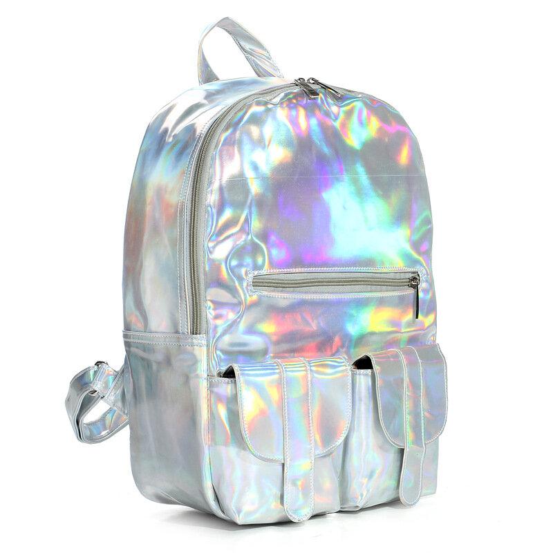 04497276c0d5 Hologram Laser Schoolbag Students Harajuku Preppy Style Backpack ...