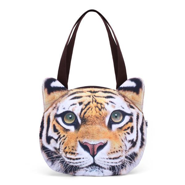 lindo gato mujeres bolsa de bolsas de la compra del bolso cara de ...