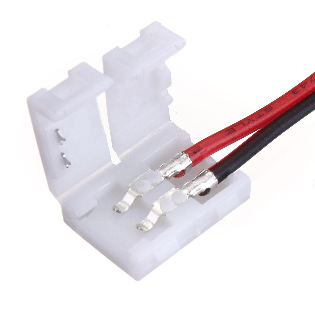 5x10 มม. 5050 ไฟ LED สตริปไปที่ ลวด เชื่อมต่อ PCB Adapter 2Pin White