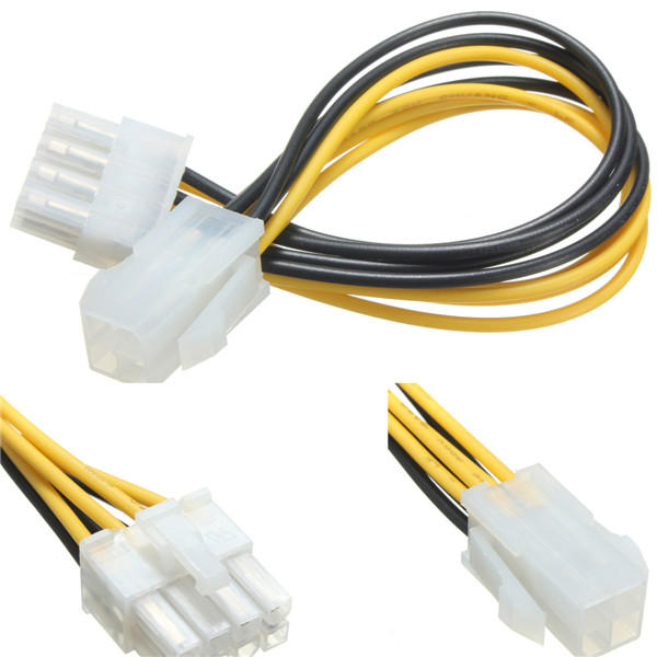 4 Pin Male to 8 Pin Female EPS ATX Desktop Power Supply Cable Adapter