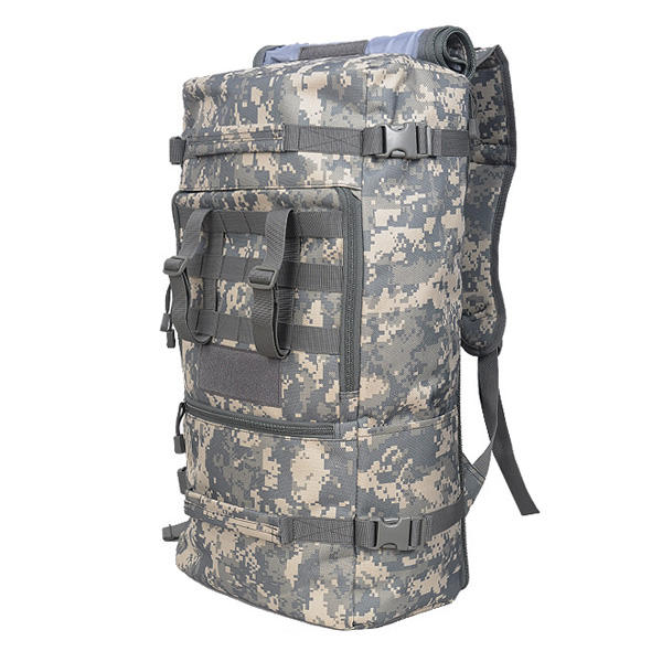 e28b5e3ae0b9 Outdoor 45L Trekking Camping Backpack Rucksack Camoflage Hiking Bag Pack COD