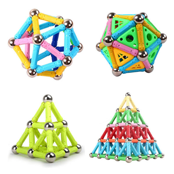 Magnetic Flexural Crooked Stick Rod Straight Stick Steel Ball Model Building Kids Adults Toy