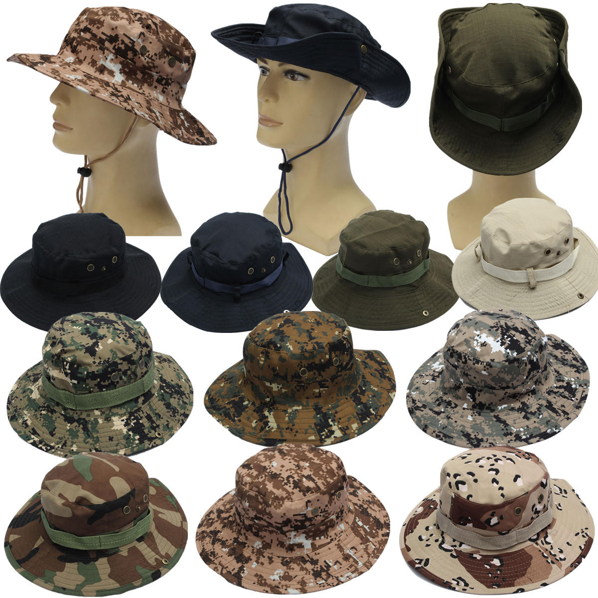 military boonie hat camo cover wide brim camouflage camping hunting cap at  Banggood sold out 4cd30e56737