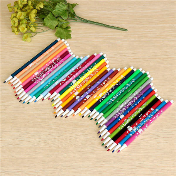 36 Colors Watercolor Pens Kit Cute Style Drawing Pen Washable Ink Maker For Kids