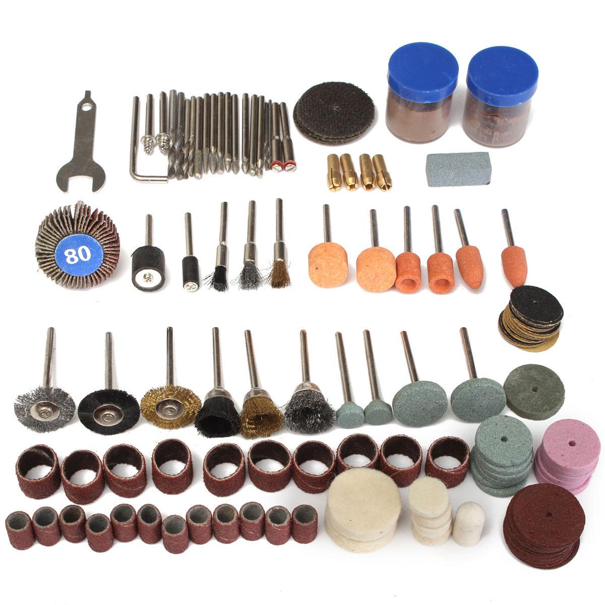 136pcs accessoires d 39 outils rotatifs bit mis kits de polissage pour dremel 7 66. Black Bedroom Furniture Sets. Home Design Ideas