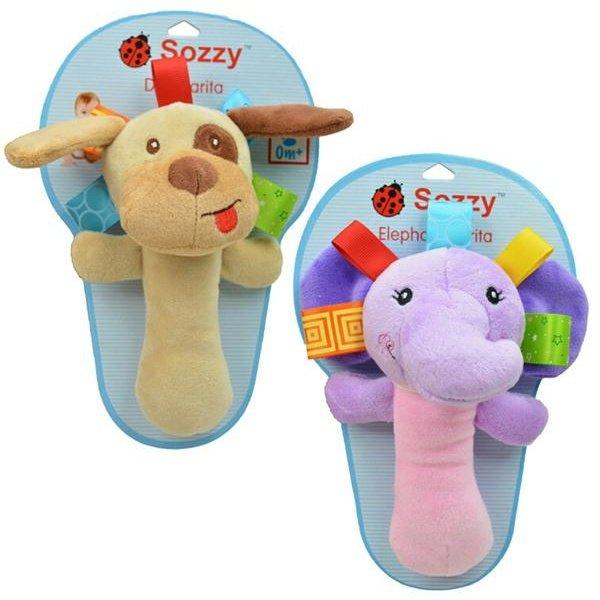 유니섹스 Ifants 만화 동물원 동물 침대 교육용 인형 핸드 벨 래틀 장난감