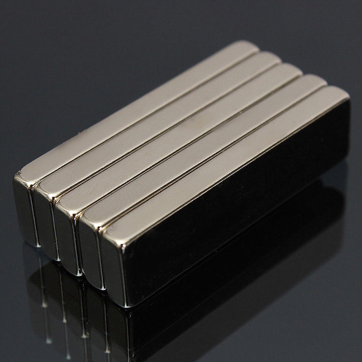 5pcs n52 40x10x4mm сильный блок магниты редкоземельные неодимовые магниты