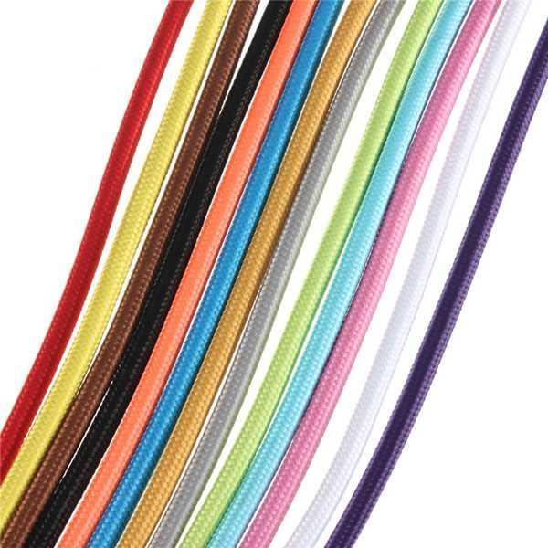 1M ผ้าหุ้มรอบไฟเบอร์กลาสผ้า Vintage Lamp ลวด