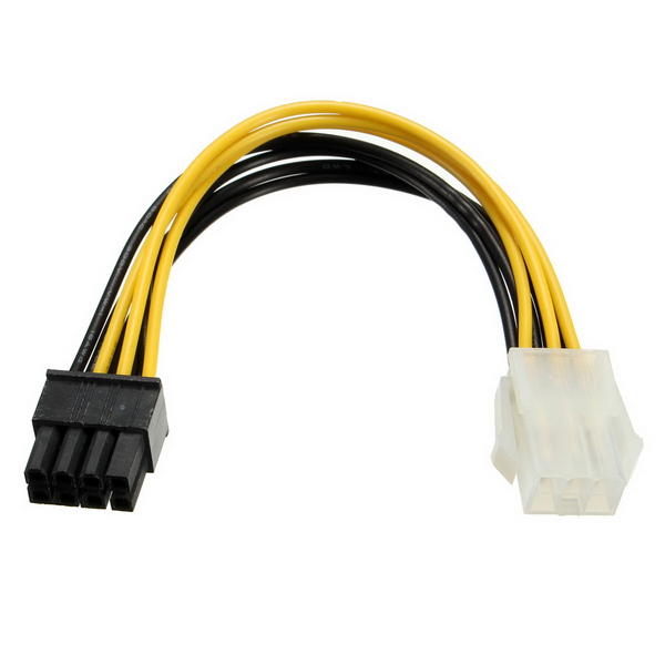 PCI-E 6 Pins to PCI-E 8 Pins Power Adapter Cable Lead Wire For PC