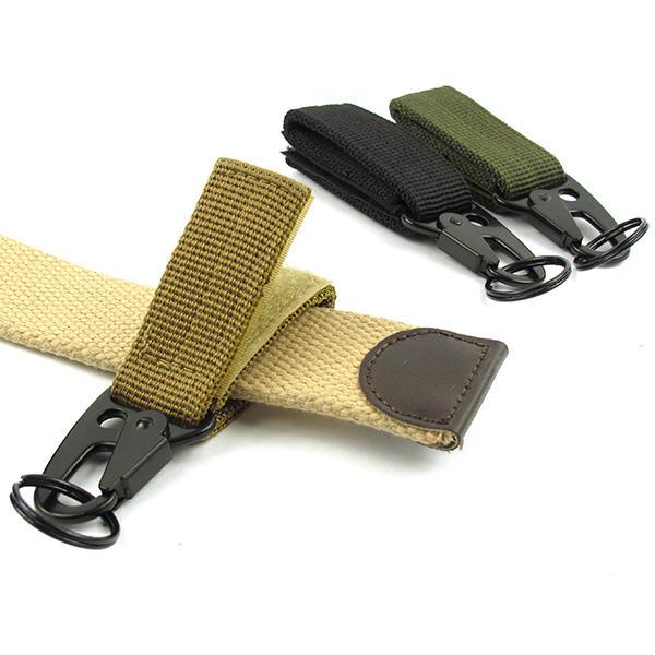 Carabiner Hook Webbing Buckle Nylon Molle Belt Hanging Key Ring Outdoor Tool