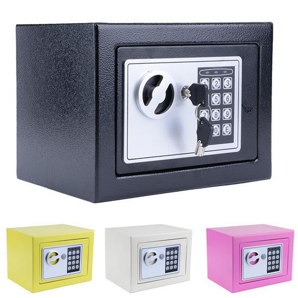 Digital Electronic Safe Security Box Wall Jewelry Cash Lock Keypad Safes Home Treasure Cod