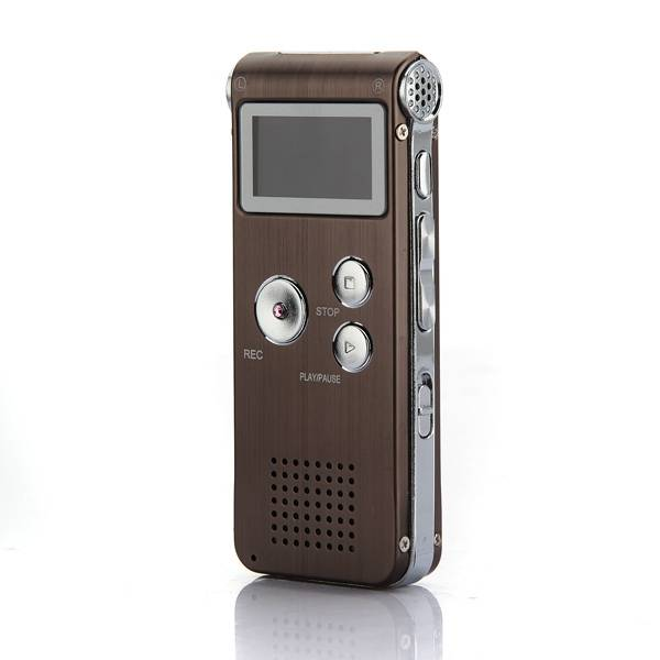 Steel 8GB Digital Sound Audio Voice Recorder Dictaphone MP3 Player Rechargeable