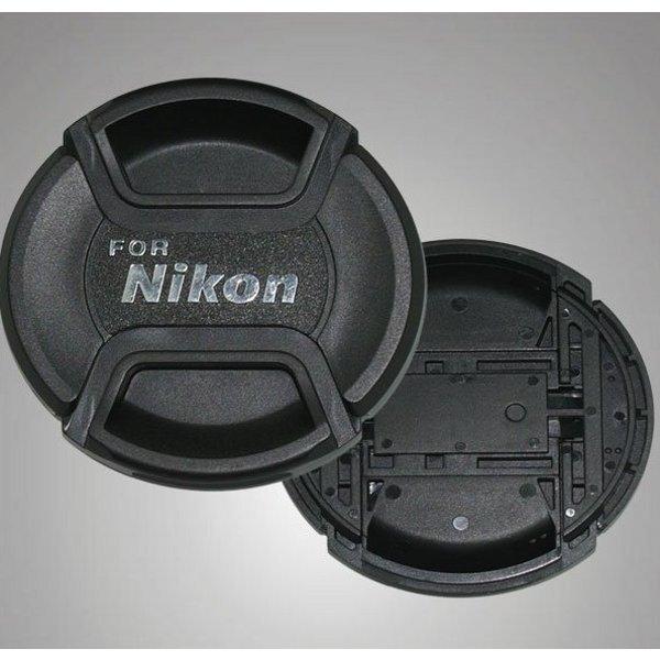 62mm Snap On Center Pinch Lens Cap For Nikon Camera