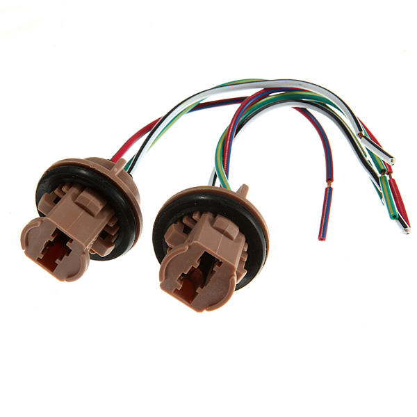 Tremendous A Pair 7443 Led Bulb Brake Light Socket Harness Wire Plugs Us 3 67 Wiring Cloud Rectuggs Outletorg