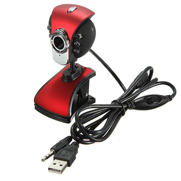 USB 50M 6 LED Webcam de caméra de vision nocturne avec ordinateur portable Mic PC