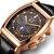 TEVISE 8383A Fecha de la semana Pantalla Reloj automático Mecánico Reloj de estilo empresarial para hombres