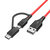 BlitzWolf® BW-MT3 3A 2 in 1 Type C Micro USB Fast Charging Data Cable 3ft 6ft