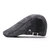 Men Cotton Letter Embroidered Adjustable Painter Beret Hat Newsboy Cabbie Flat Caps