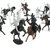 28PCS Diecast Medieval Knights Warriors Horses Soldiers Figures Model Playset Kids Toy Gift Decor Collection