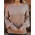 Femmes sexy dos creux arc hiver à tricoter chandails occasionnels