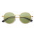 Unisex Light Metal Anti-blue Light Polarized Light Vogue Circle Clear Lens Glasses Sunglasses