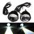 2pcs 5W 크 세 논 화이트 LED DRL 주간 러닝 카 도로 안개 빛 방수 프로젝터 끄기