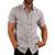 INCERUN Camisas de cuello de verano causales para hombre Bolsillos de manga corta
