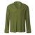 Hombres vendimia Camisas casuales sueltas con cuello en V de color sólido con cuello en V transpirables