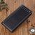 Men Faux Leather Long Zipper Wallet