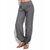 Women Casual High Waist Pure Color Button Yoga Harem Pants