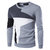 Mens Knitted Geometric Patterns Long Sleeve titching Warm O Neck Pullover Sweaters