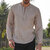 INCERUN Men Casual Long Sleeve Button Down Retro Plain Curved Hem Top Shirts