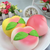 4PCS/Pack Squishy Rainbow Cake Peach Toast Bread Slow Rising Collection Gift Decor Toy