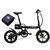 CMS-F16 Extra Batería Set 36V 7.8AH 250W Negro 16 pulgadas Bicicleta eléctrica plegable 20 km / h 65 KM Sistema de velocidad variable inteligente de kilometraje con un Batería adicional
