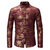 Mens Sequin Rose Printed Banquet Club Stage Turn Down Collar Long Sleeve Casual Shirts
