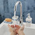 Hands Touch Free Automatic Electronic Sensor Control Bathroom Kitchen Sink Tap Basin Faucet