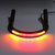 7/8inch Tube Black Cafe Racer Seat Frame Hoop Brat Loop LED Brake Turn Singal Lights