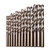 Drillpro M42 HSS Twist Drill Bit Set 3 Edge Head 8% High Cobalt Drill Bit for Stainless Steel Wood Metal Drilling
