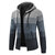 Mens Thick Velvet Casual Thermal Knitting Cardigans Hooded Color Matching Sweaters