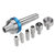 RED ARROW Woodworking Interchangeable Live Center MT2 Morse Taper 2 Shank with 6pcs Interchangeable Live Center Points Wood Lathe Tool
