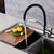 All Copper Kitchen Sink Faucet 360° Rotation One Hole Basin Mixer Water Tap